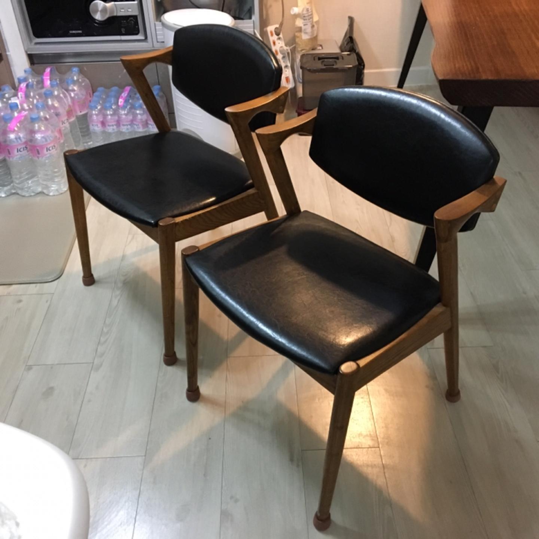 원목 의자 2개(가격내림)