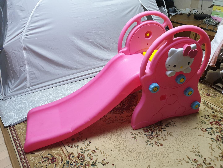 헬로 키티 미끄럼틀(세탁완료) 장난감 유아미끄럼틀