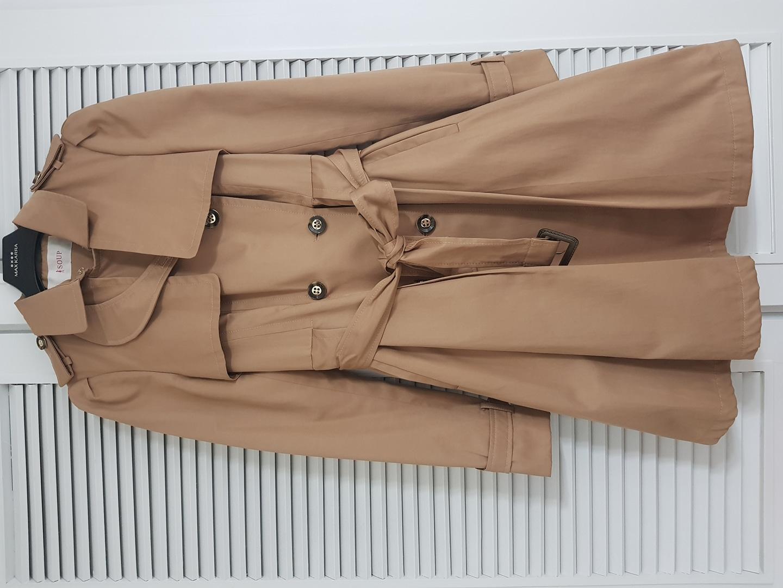 숲 면 혼방 트렌치 코트 벨트 자켓 레니본 모조에스핀 디자인