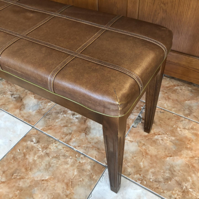 브라운 엔틱 의자