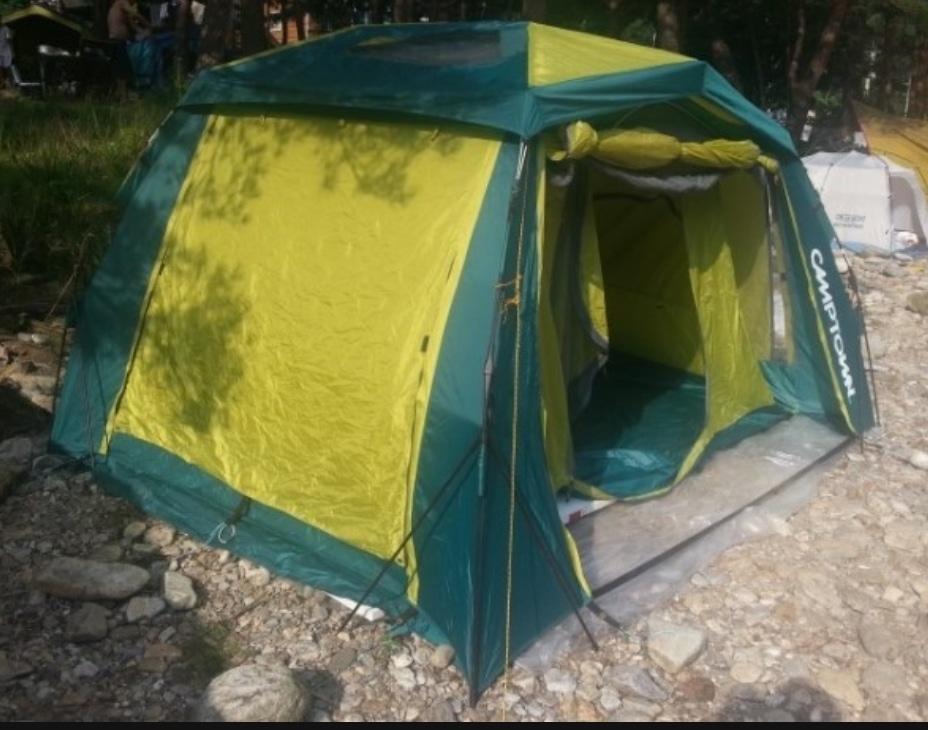 캠프타운 텐트 3~4인용..색상 파랑