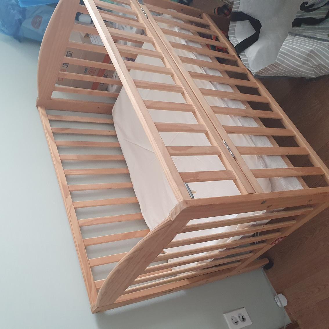 아기 원목 침대(사용감 많아요)
