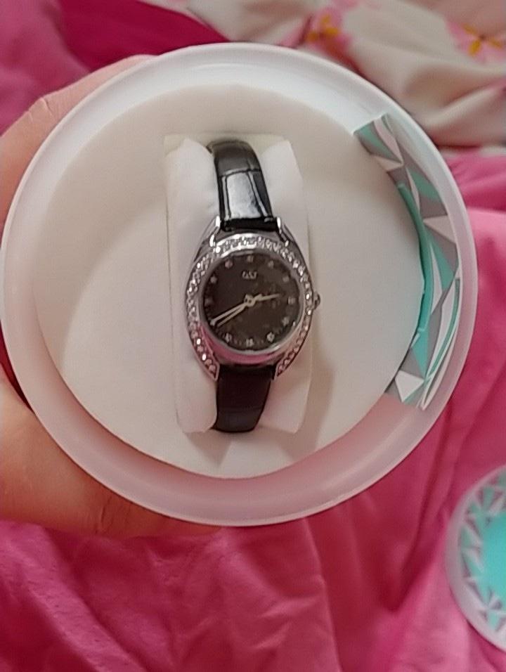 ost 여성시계 가죽시계 큐빅시계