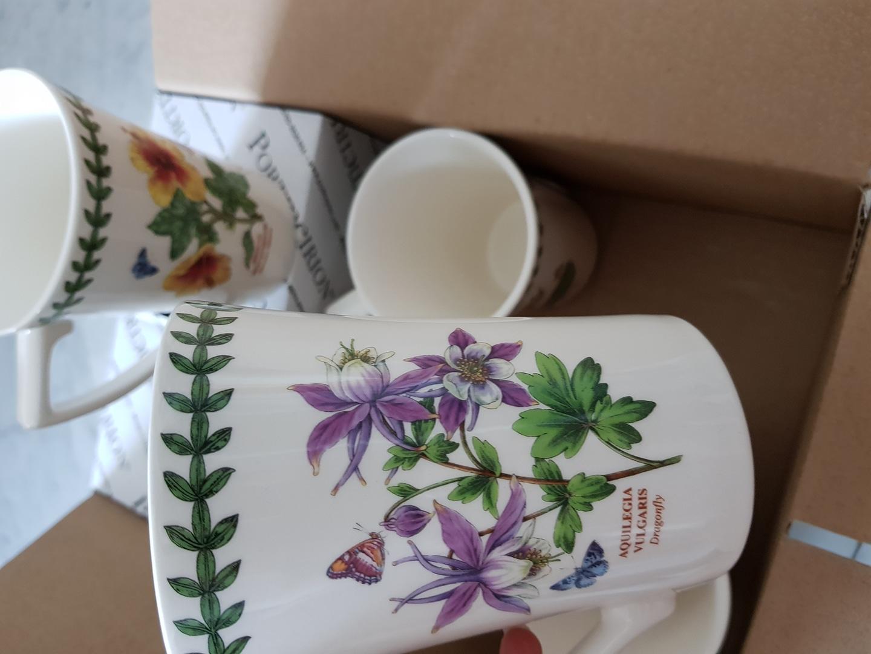 백화점 구매 정품 새상품)포트메리온 플라워 고가 머그잔 컵