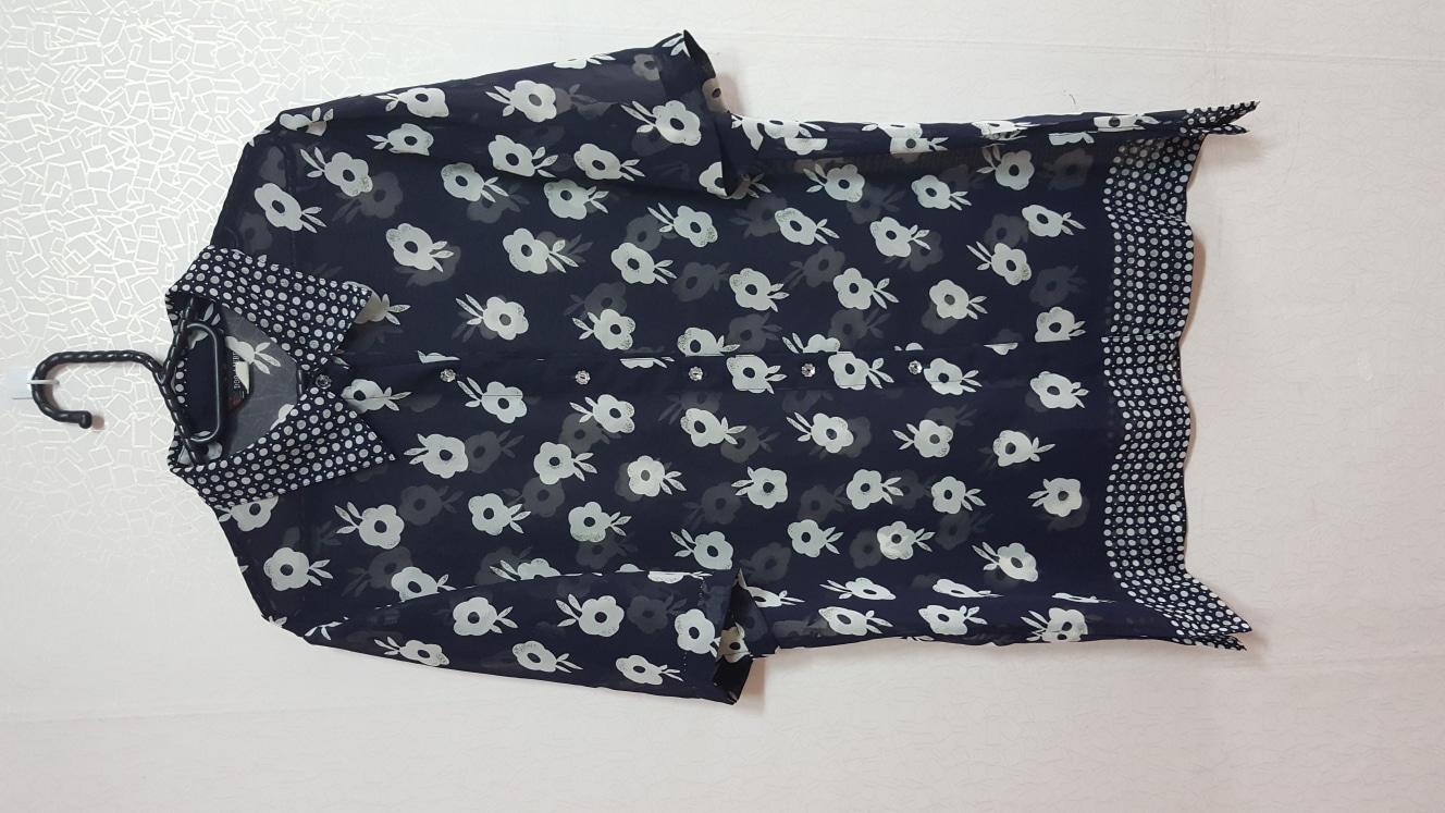[77-통통77] 시스루 롱 셔츠