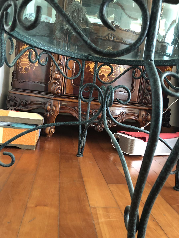 [테이블] 원형 유리 테이블