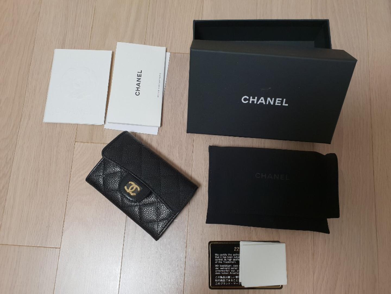 샤넬 캐비어 금장 카드지갑 (새상품)