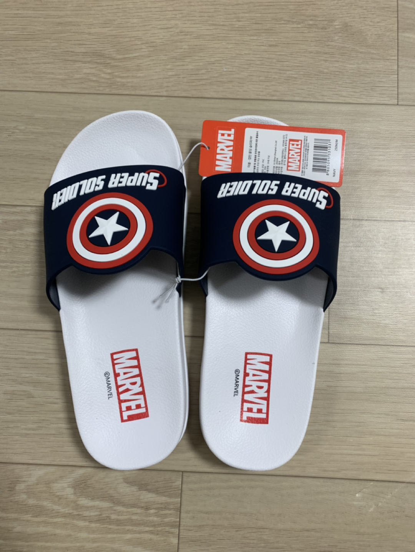 마블 캡틴아메리카 슬리퍼 250
