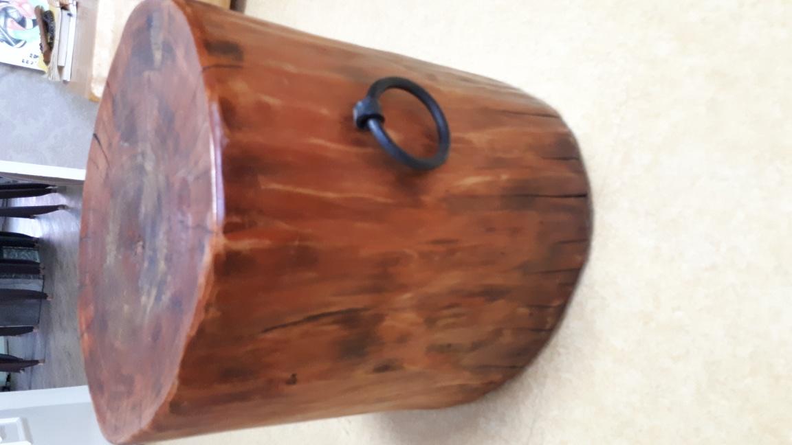 원목 통나무의자