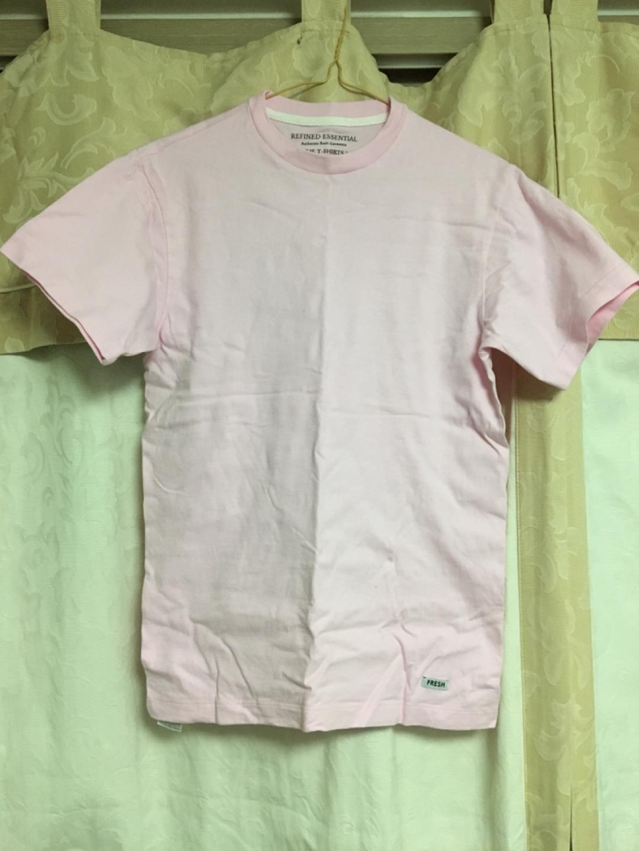 탑텐 면티셔츠 블랙/핑크 사이즈90