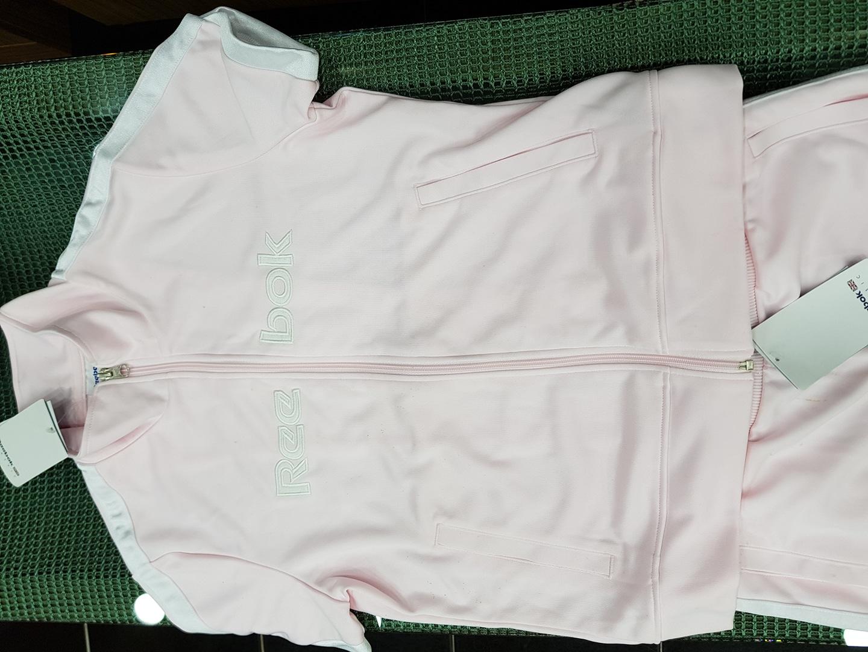 리복핑크운동복(상의반팔,하의7부)