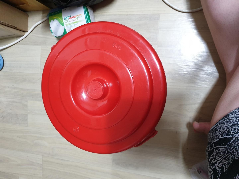 빨간 플라스틱 바케스(10L)