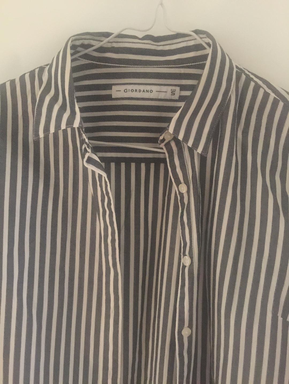 지오다노 여성 줄무늬 셔츠