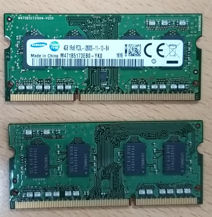 4GB 노트북용 메모리(램)