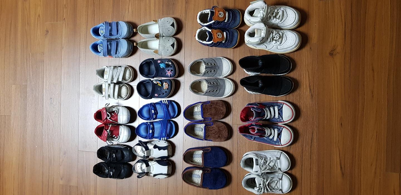 유아 신발 정리해요