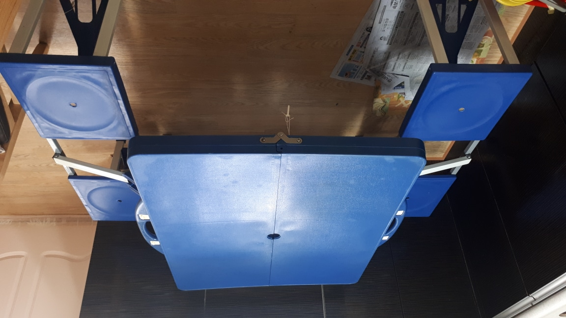 캠핑용간편접이식식탁의자일체형