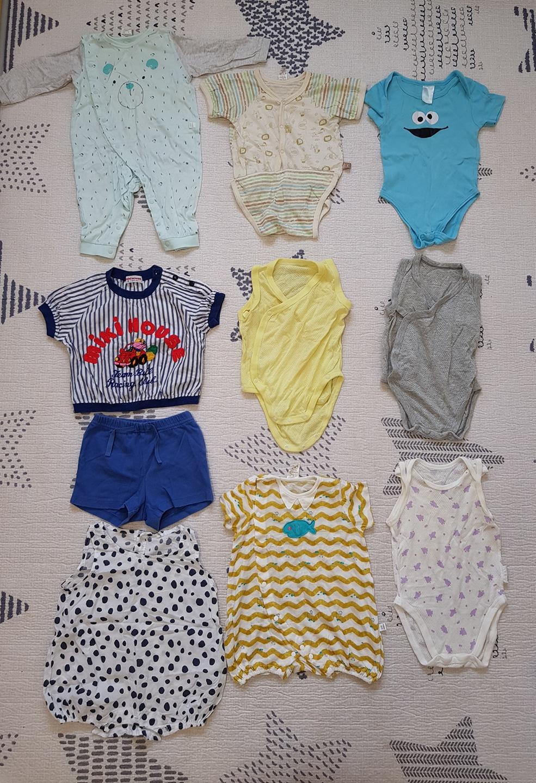 3~6개월 여름용 아기옷 일괄
