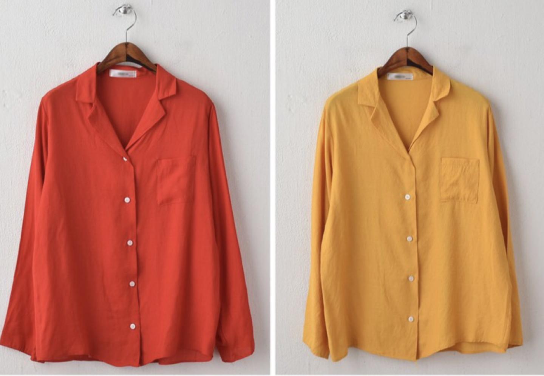 빨강 노랑 셔츠