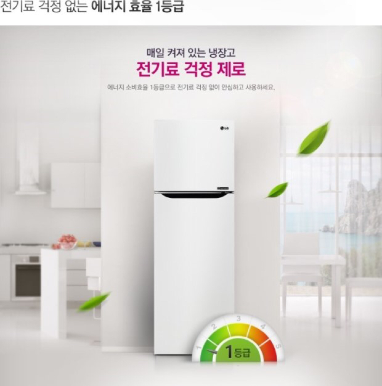 LG 냉장고 254 리터
