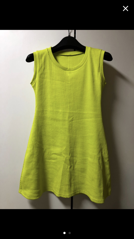 골지 스판 나시 롱 티셔츠 (새옷)
