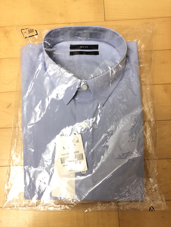 엠비오 하늘색 드레스 셔츠 사이즈 100