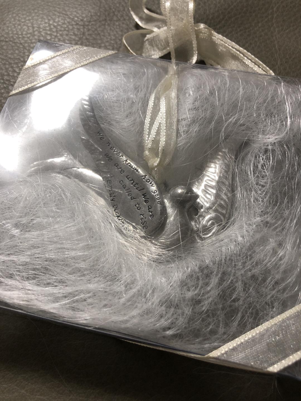 장식용 실버색 메탈 비둘기
