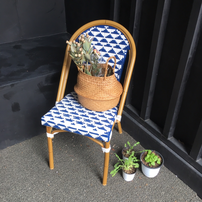 라탄 소재 유럽식 의자