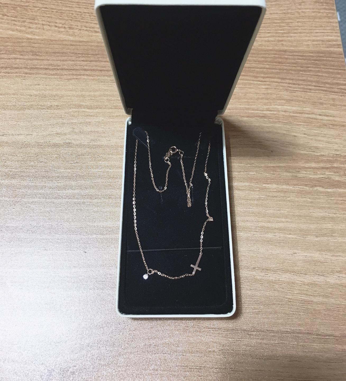 14K 로즈골드 목걸이