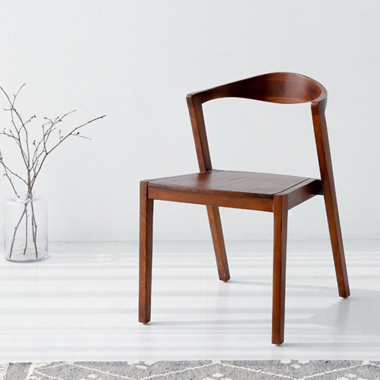 디자인 원목 의자 1개 (숭카이 나무)
