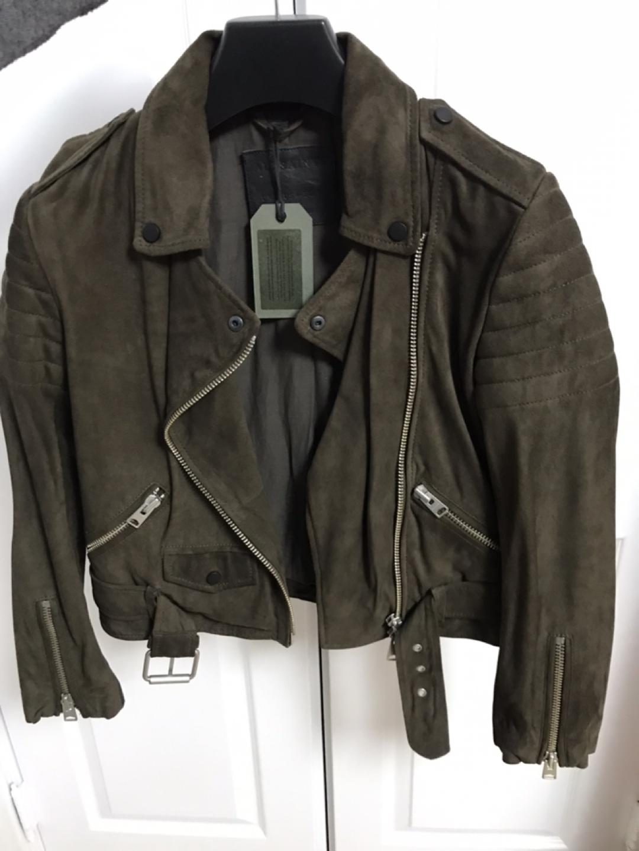 #새 제품#올세인츠 / allsaints 염소가죽 스웨이드 바이커 자켓