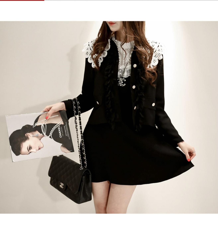 블랙 프린지자켓