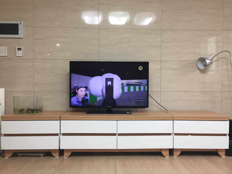 우아미가구 tv 낮은 수납대 tv다이 서랍장 2400