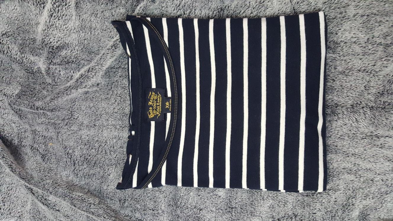 폴로 스트라이프 티셔츠