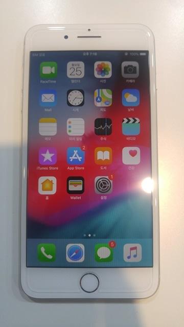 아이폰8플러스, 배터리수명 100%,색상:실버,64G, 47만에 판매합니다