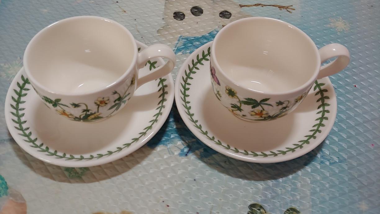 커피잔접시세트2개