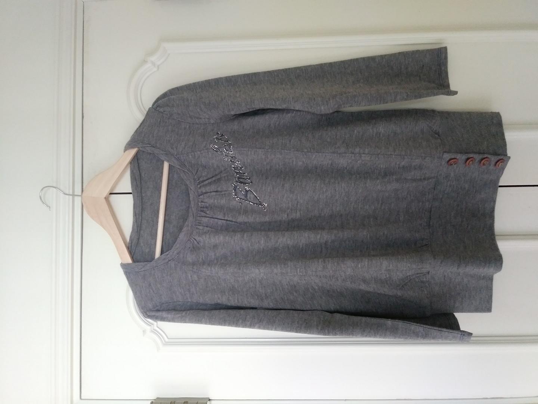 바닐라비 회색티셔츠