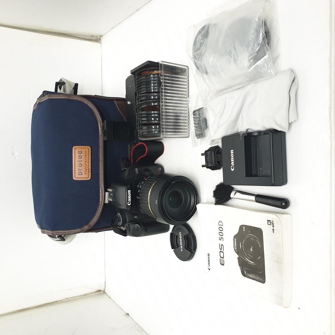 캐논 DSLR EOS 500D+탐론 렌즈 18-200mm 등등