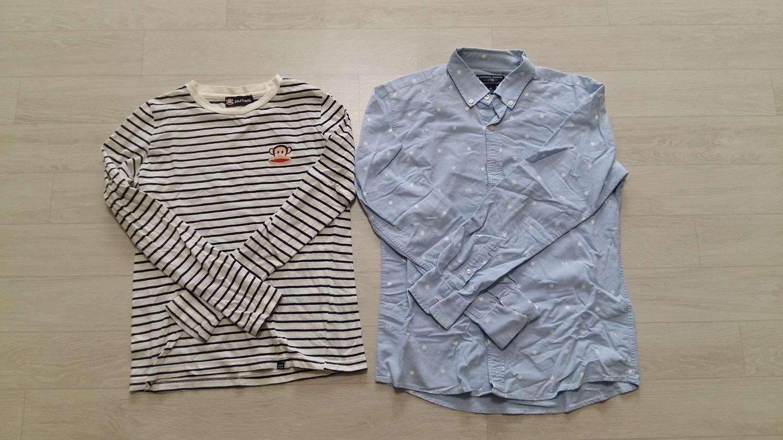 남방 M사이즈, 티셔츠(90)  두장에 오천원