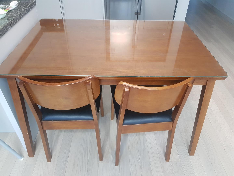 식탁(유리포함) + 의자 세트