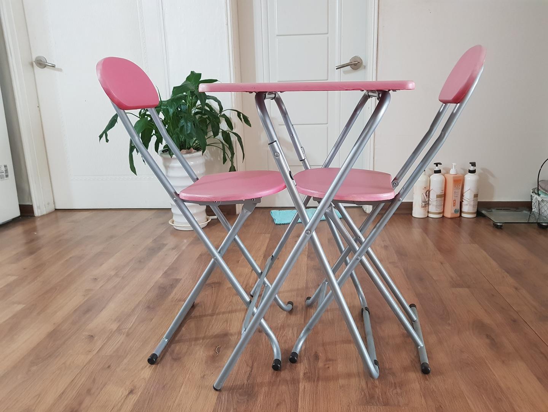 로맨틱 분위기 접이식 테이블 의자 풀세트 대박찬스!!