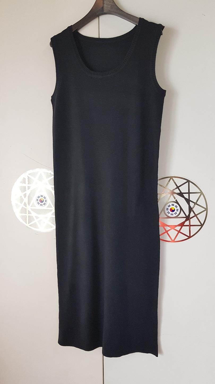 나시 롱 긴 치마 원피스 스커트 니트 여름 옷 봄옷 가을옷 봄가을옷 여성옷 여자옷 블랙검정브라운갈색