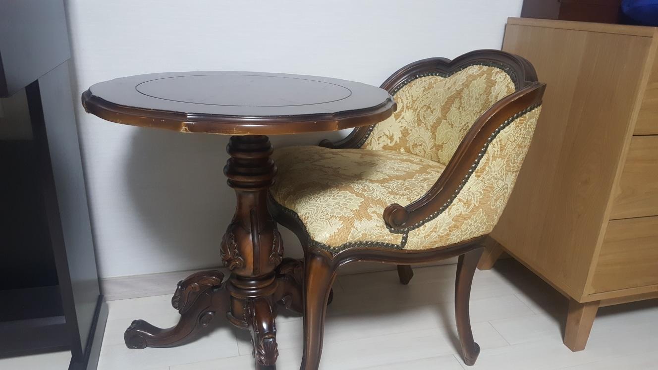 원목테이블 의자세트