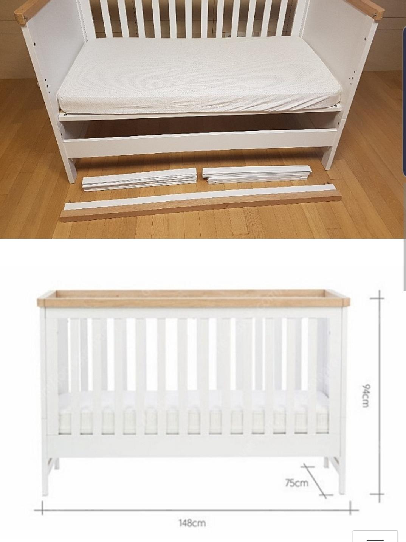 아기침대입니다. 신생아부터 4~5살까지 사용가능함./유아침대/원목침대/3단계 높이 조절가능