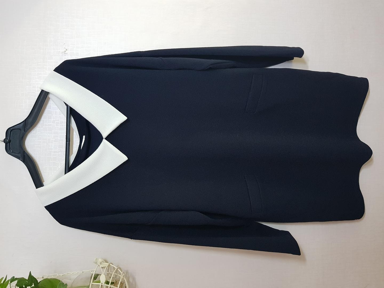 <새제품>화이트카라 롱 티셔츠