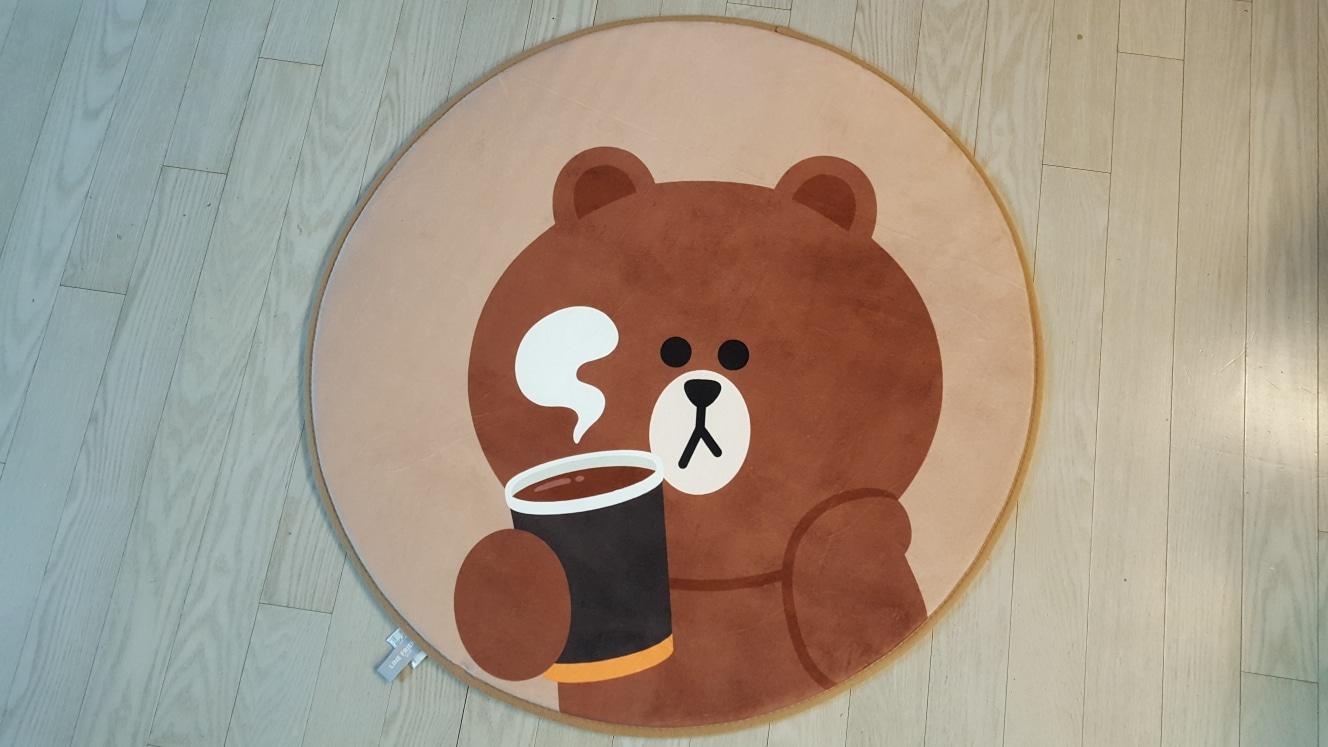 🍁던킨 소프트 러그(브라운 커피)..
