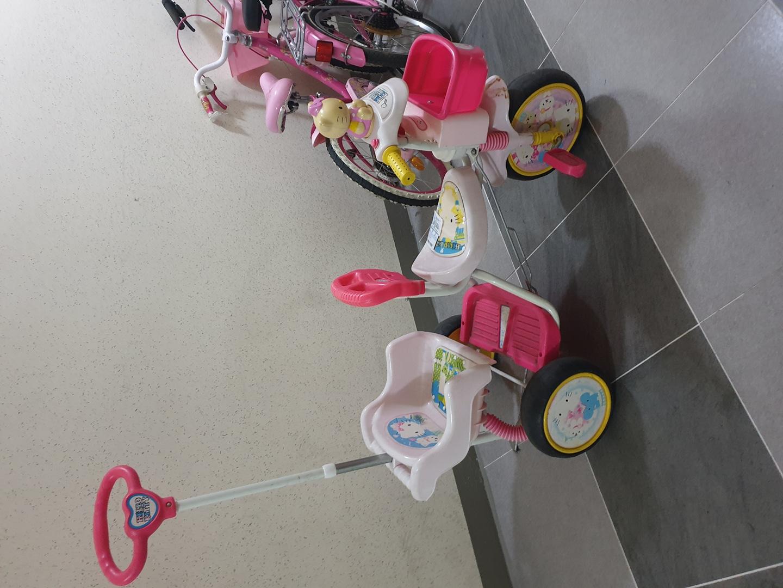 키티자전거 2인용 유아자전거
