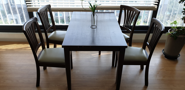 4인용 식탁, 의자4개
