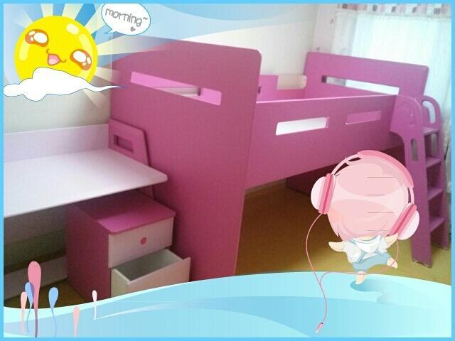 벤키즈 벙커침대♡책상(핑크)