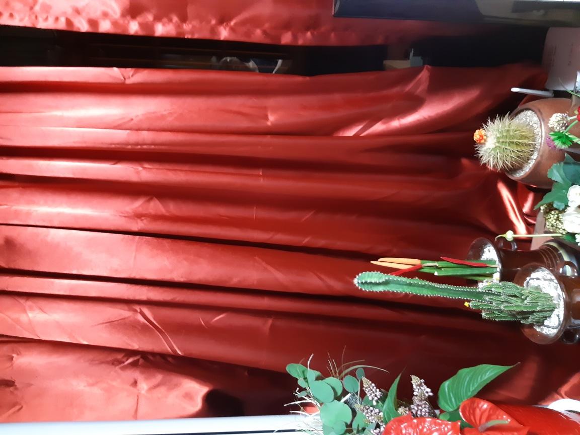 빨간 암벽커텐 가로 270  세로 270