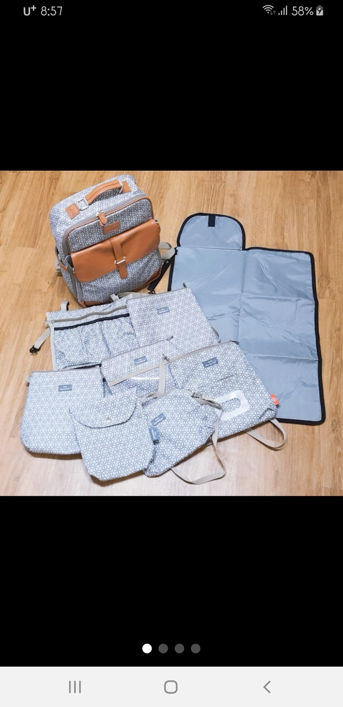 (중고&새제품)안느메들라인 수유가방.기저귀가방.백팩.보냉백